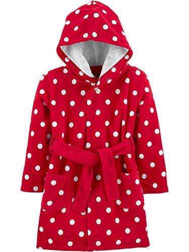 Simple Joys by Carter's Albornoz con Capucha Pajama-Tops, Dots, 2-3T