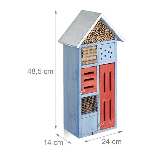 Design-Insektenhotel mit Metalldach - 3