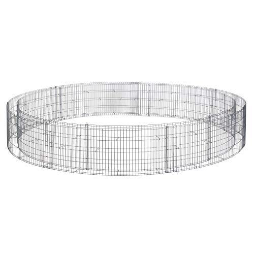 bellissa Gabionen-Hochbeet rund - 95568 - Steinkorb-Pflanzkübel rund - Bausatz inkl. Trennfolie - Durchmesser 240/220 cm, Höhe 40 cm