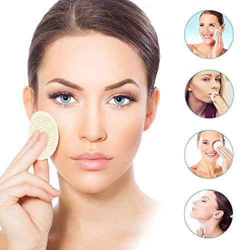 iBoosila 18 Pcs Enlèvement De Maquillage Coton Fiber De Bambou Réutilisable Coton Ronds Pads Pour Le Visage Des Yeux landmark welcoming useful
