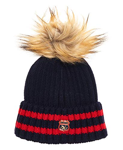 Superdry Beanie Aimee Stripe Ribbed Beanie Navy, Size:ONE Size