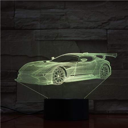 3D LED auto nachtlicht illusie lampen 7 kleuren verandering tafellamp decoratieve lamp sfeerlicht decoratie voor kinderen Kerstmis verjaardagscadeau