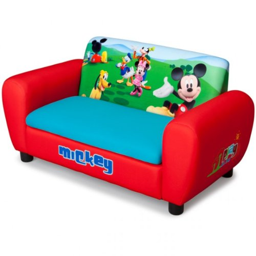 Delta Children's Products Disney Mickey Mouse 2er Sofa gepolstert rot aufklappbar Sessel Couch Kindersofa
