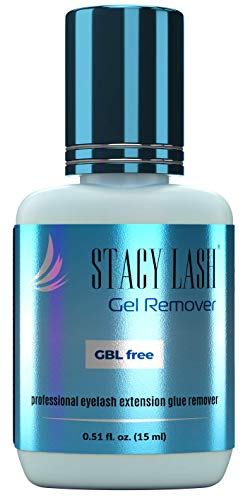 Gel Remover for Eyelash Extension Glue Stacy Lash (0.51 fl.oz / 15 ml) / GBL Free/Fast Lash Adhesive Dissolution time - 60 Seconds/Aquamarine Color and Pleasant Smell
