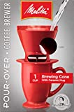 Melitta Single-Cup Pour Over Coffee Brewer, Red (Pack of 4)
