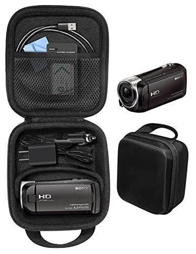CaseSack Camcorder kit Case for Sony HD Video Recording HDRCX440, HDRCX405 Handycam; Canon VIXIA HF R800, Panasonic HC-V180K, Kimire HD Recorder, Sony HDRAZ1VR/W, SiOnyx Aurora Day/Night action camera