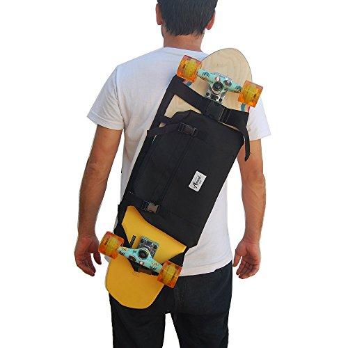 monark supply Rucksack, um das Longboard und Skateboard zu tragen.Trendiger Umhängerucksack Crossover Rucksack Schulterrucksack Slingbag Body Bag Crossbag Skaterruc
