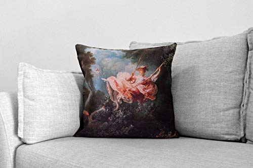 Lplpol Decorative Pillow Cover, The Swing, Also Known As The Happy Accidents Of The Swing- Pillow - Jean-Honoré Fragonard, Modern Pillows For Couch For Home Couch Sofa Bedding 20x20 Inch