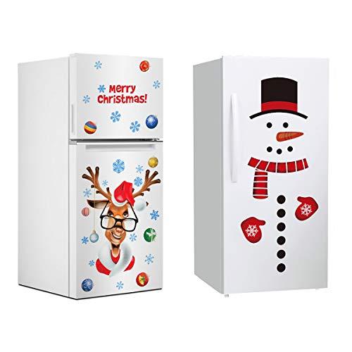 Pegatinas de Nevera de Navidad – 2 Hojas de Navidad para v
