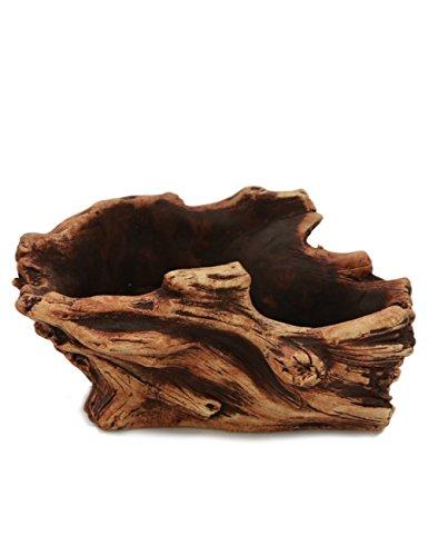 Dahlia Driftwood Stump Log Concrete Planter/Succulent Pot/Plant Pot, 8.2L x 5.9W