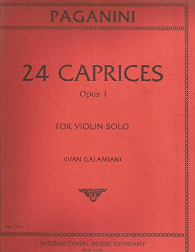 Paganini, Niccolo- 24 Caprices f...