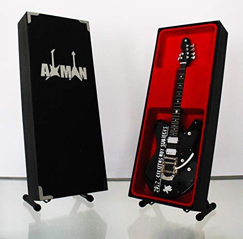 Miniatura Guitarra Replica: Robert Smith Ultracure por Axman–Modelo Mini Rock Memorabilia réplica de madera miniatura guitarra & Libre Pantalla Soporte (vendedor de Reino Unido)