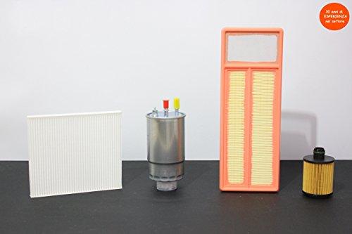 Tecneco set met 4 filters (lucht - olie - Abitaclo - brandstof)