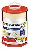 tesa Easy Cover Film PREMIUM - 2 en 1 Película Protectora y Cinta Adhesiva de Pintor para Enmascarar - Recargable, con Dispensador - 33 m x 50 cm