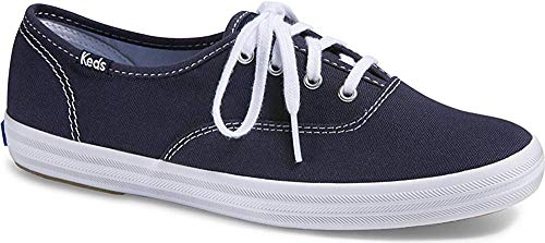 Keds Women's Champion Original Canvas Lace-Up Sneaker, Navy, 7.5 M US