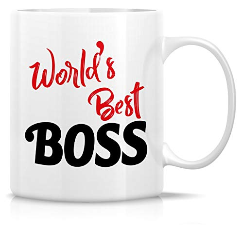 330ml Tazas de té Tazas para espresso El mejor jefe mundo Taza bebida café Regalo Vajilla de Agua/Leche para Hogar,Oficina