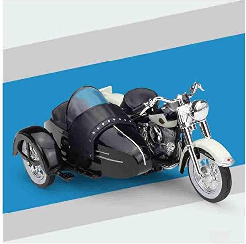 WASHULI Modelo de Caza de fundición Modelo 1/18 Tricycle Motorcycle Die Scale Modelo Modelo de aleación Colección de Coches Juguete Adecuado (Color : 1958)