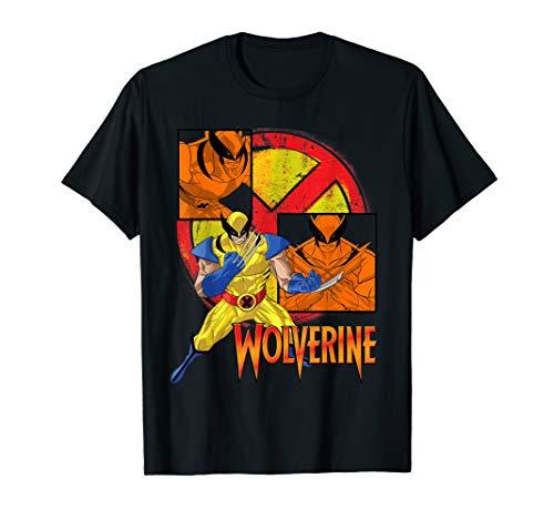 Marvel X-Men Wolverine Collage Panel Logo T-Shirt