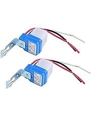 Sensor de control de luz Auto On/Off Interruptor automático de luz de calle Interruptor Photoswitch autopistas Parques Iluminación AC 12V/24V/110V/220V 10A (220V)
