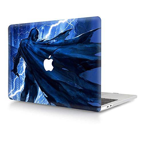 AJYX Coque MacBook Pro 15 Pouces 2015 2014 2013 2012 Modèle A1398, Plastique Rigide Case Mat Étui Protection pour Ancienne MacBook Pro 15 Retina - Batman