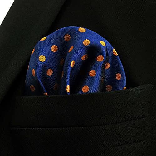 SLATIOM Negocio Multicolor Pocket Mens Clásico Traje Regalo Pañuelo Cheques ACCEOSSORIOS (Color : C, Size : 32x32CM)