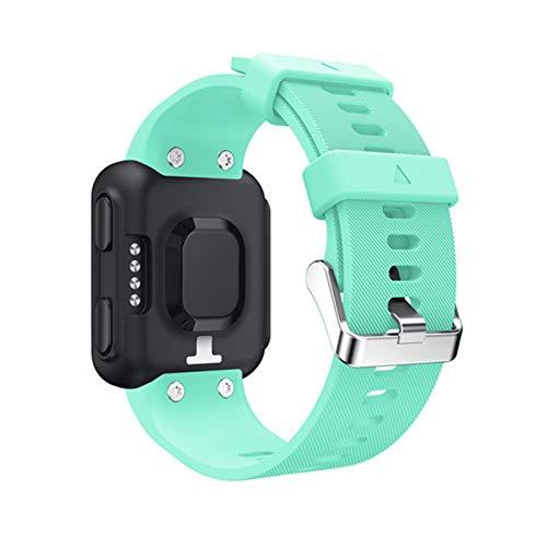 XUEMEI Silicone Reloj Correa para Forerunner 35 Pulsera De La Correa De La Muñeca para Garmin Forerunner 35 Reemplazo De Reloj Inteligente (Color : Mint Green)