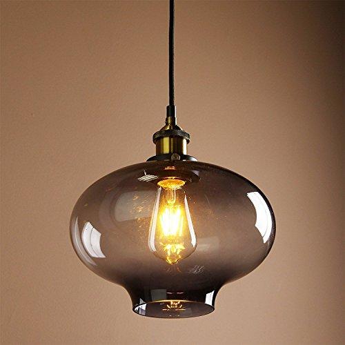 Lustre industriel vintage Loft E27 - Couleur verre - Suspension