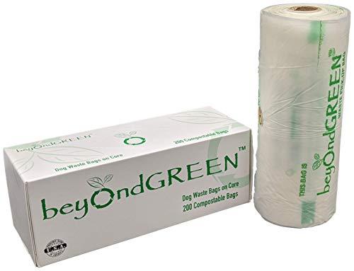 beyondGREEN Plant-Based Dog Poop Waste Bags for Park Dispenser - 200 Bag Roll - 8 x 13