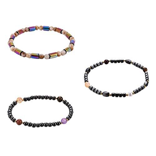 Healifty 3 pulseras de tobillo para mujer, estilo simple, magnético, para decoración de regalos