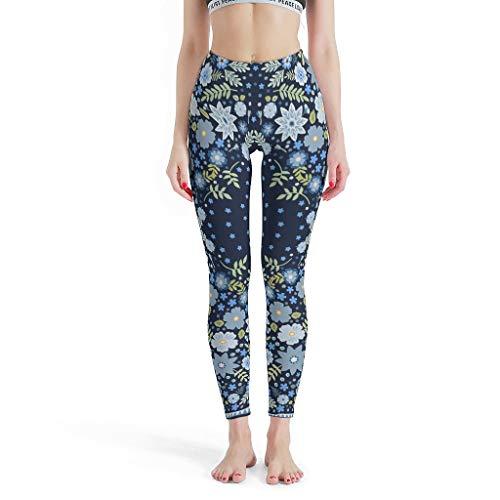 Charzee dames etnische stijl patroon yoga loopbroek elastische veilige capri-loopbroek comfort sportbroek skinny leg boheemse wind