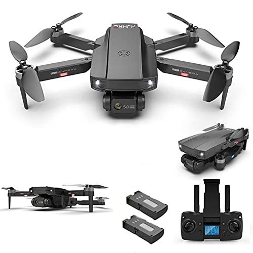 YEEWA HJ188 GPS 4K Dron con cámara Dual con Motor sin escobillas, Dron 5G WiFi FPV con función Sígueme, Dron Profesional para Adultos, Vuelo de 50 Minutos con 2 baterías