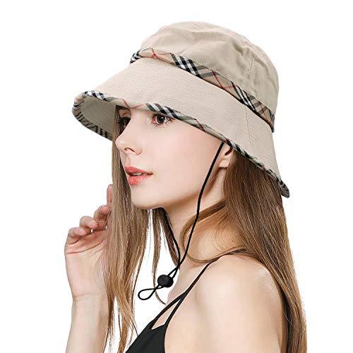 Sombrero de Mujer Sombrero Pesca del Sol Gorra de Verano Sombrero Playa Plegable De ala Ancha Protección UV