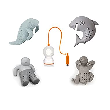 Adorable Loose Leaf Tea Infusers Strainer Set of 5 - Great Cute Gift for Tea Lovers