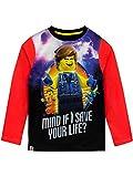 Photo de LEGO Movie - T-Shirt à Manches Longues - La Grande Aventure Garçon - Rouge - 9-10 Ans