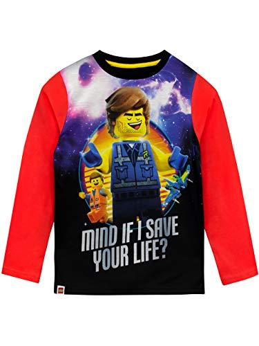 LEGO Movie - T-Shirt à Manches Longues - La Grande Aventure Garçon - Rouge - 9-10 Ans