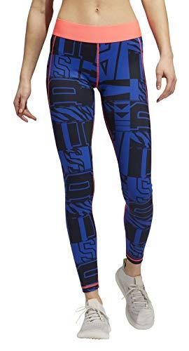 adidas Ask L VAR Hck T – Leggings da Donna, Donna, Maglie, FT3138, Rosso, Blu (Azurea/Rossen), L