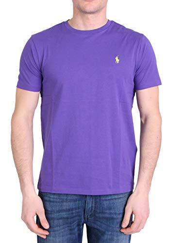 Polo Ralph Lauren MOD. 710671438 T-Shirt Girocollo Uomo Custom Fit Viola L