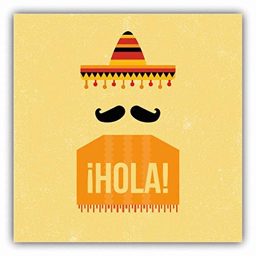 Mexicaanse Sombrero Cap iHola Reizen Auto Bumper Sticker Decal 5