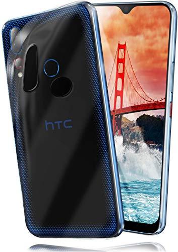 moex Aero Hülle kompatibel mit HTC Desire 19 Plus - Hülle aus Silikon, komplett transparent, Klarsicht Handy Schutzhülle Ultra dünn, Handyhülle durchsichtig einfarbig, Klar