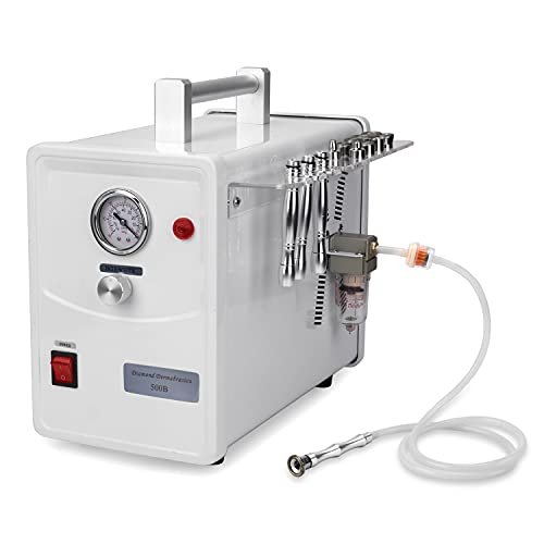 Professional Diamond Dermabrasion Microdermabrasion Machine Facial Skin Care Device Equipment (Suction Power: 0-68cmHg) w/ 350 Pcs Cotton filters