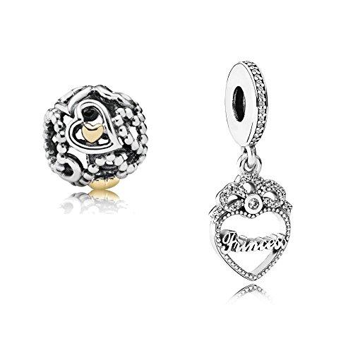 Original Pandora Geschenkset - 1 Silber Pendel Herz