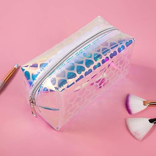 Fashion PVC Design Women Cosmetic Bag Laser Makeup Case Transparent Beauty Organizer Pouch Female Jelly Bag Clear Pouch 6007-4