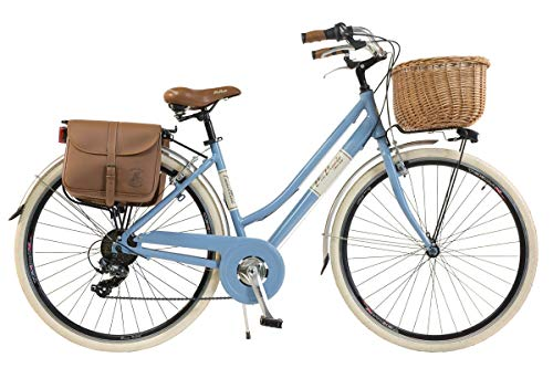 Via Veneto by Canellini Bicicletta Bici Citybike CTB Donna Vintage Retro Via Veneto Alluminio Azzurro Taglia 46