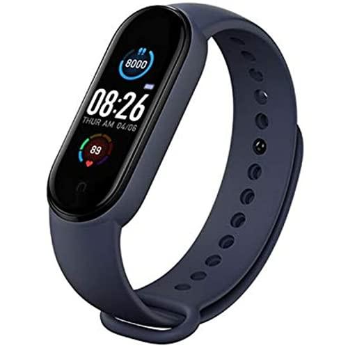 Pulsera de salud Frecuencia cardíaca Presión arterial Smart Band Fitness Tracker Pulsera Smartband para adultos (azul)