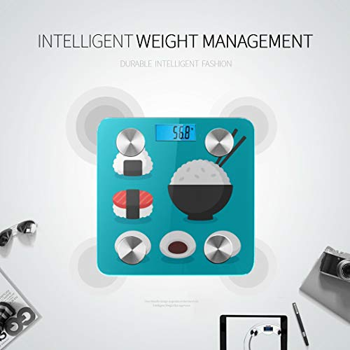 JXCSGBD Japanese Food Cuisine Rice Sushi Best Rated Bathroom Scales Bluetooth Scales Most Accurate Weight Scale Tracks 8 Key Compositions Analyzer Sync with Fitness Apps 400 Lbs