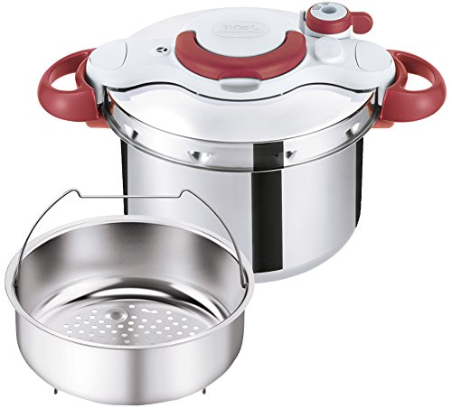 T-fal Pressure Cooker 'ClipsoMinut Easy' 6.0L (Ruby Red) P4620769【Japan Domestic genuine products】 【Ships from JAPAN】