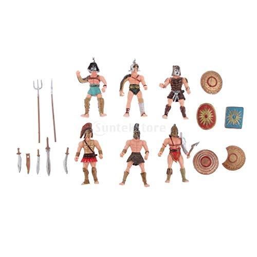 Sharplace Antiken Römischen Gladiator DIY Mittelalterlichen Krieger Figur Action Figuren mit Waffe für Kinder