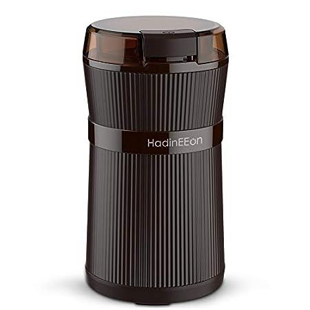 【スパイスやハーブにも】HadinEEon 水洗い対応電動コーヒーミル 200Wハイパワー 1,340円送料無料!【9/30まで】