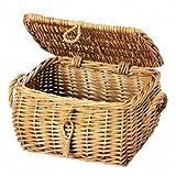 煮柳バスケット ふた付きボックス20 cm 41-25の写真