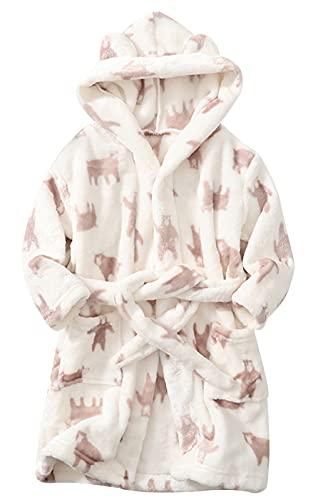 FEOYA Albornoz infantil con capucha de forro polar para niños de 1 a 9 años, Motif-1, 2-3 Años